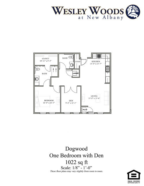 Dogwood One Bedroom with Den