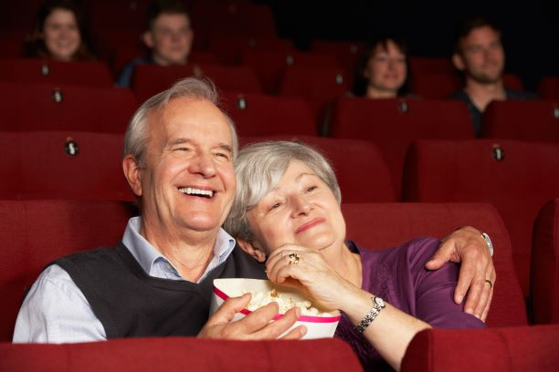 Older Couple at Movie Theater